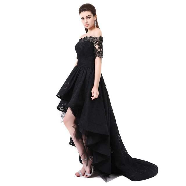 Online Shop Hi Low Prom Dress Off The Shoulder Beautiful Dresses For