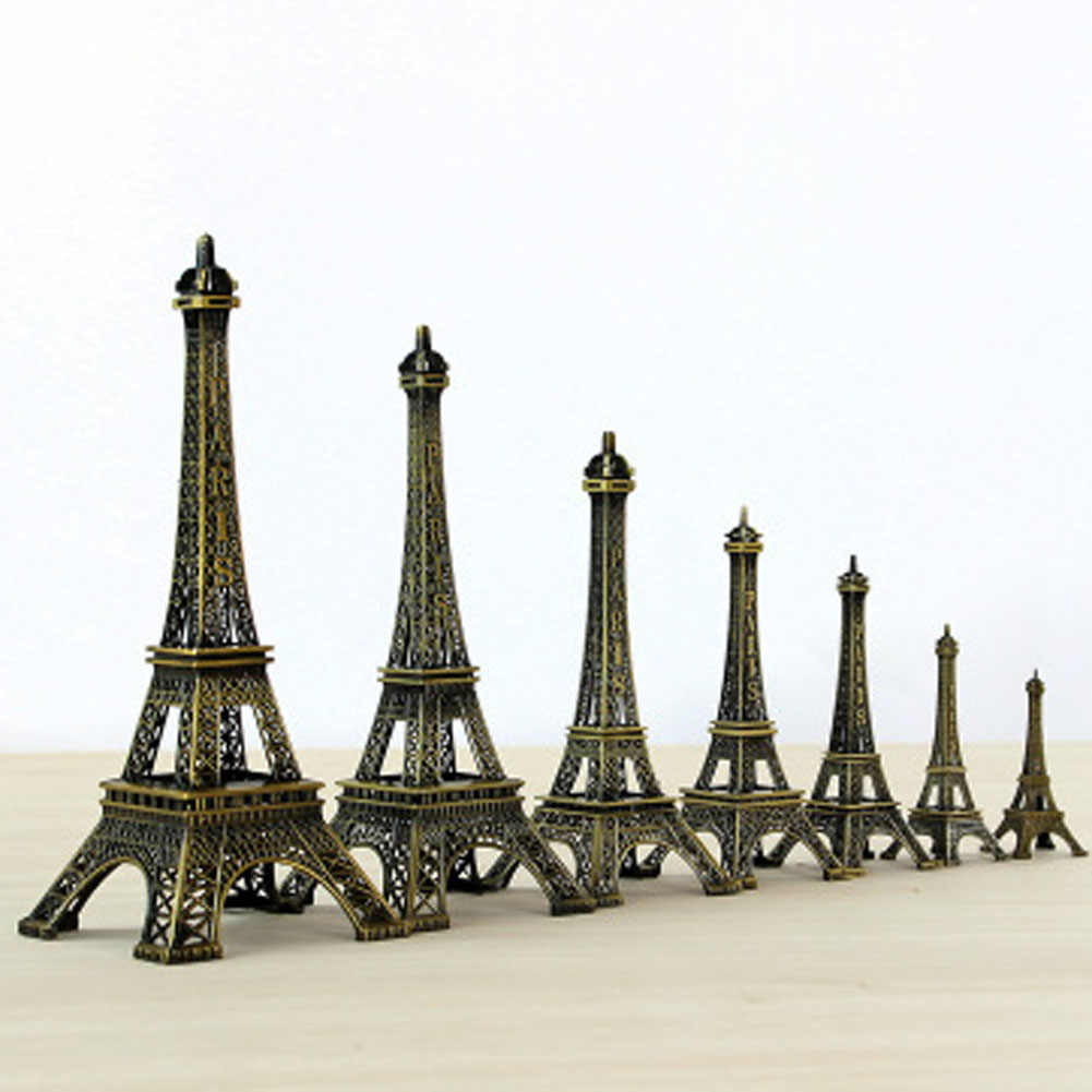 1Pc Creative Gifts 8-22cm Metal Art Crafts Tower Model Figurine Zinc Alloy Statue Travel Souvenirs Home Decorations