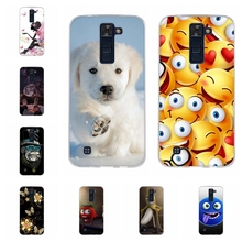 For LG K8 Back Cover Ultra-slim Soft TPU Silicone K350N Phone Case Geometric Patterned Phoenix 2 Coque Funda