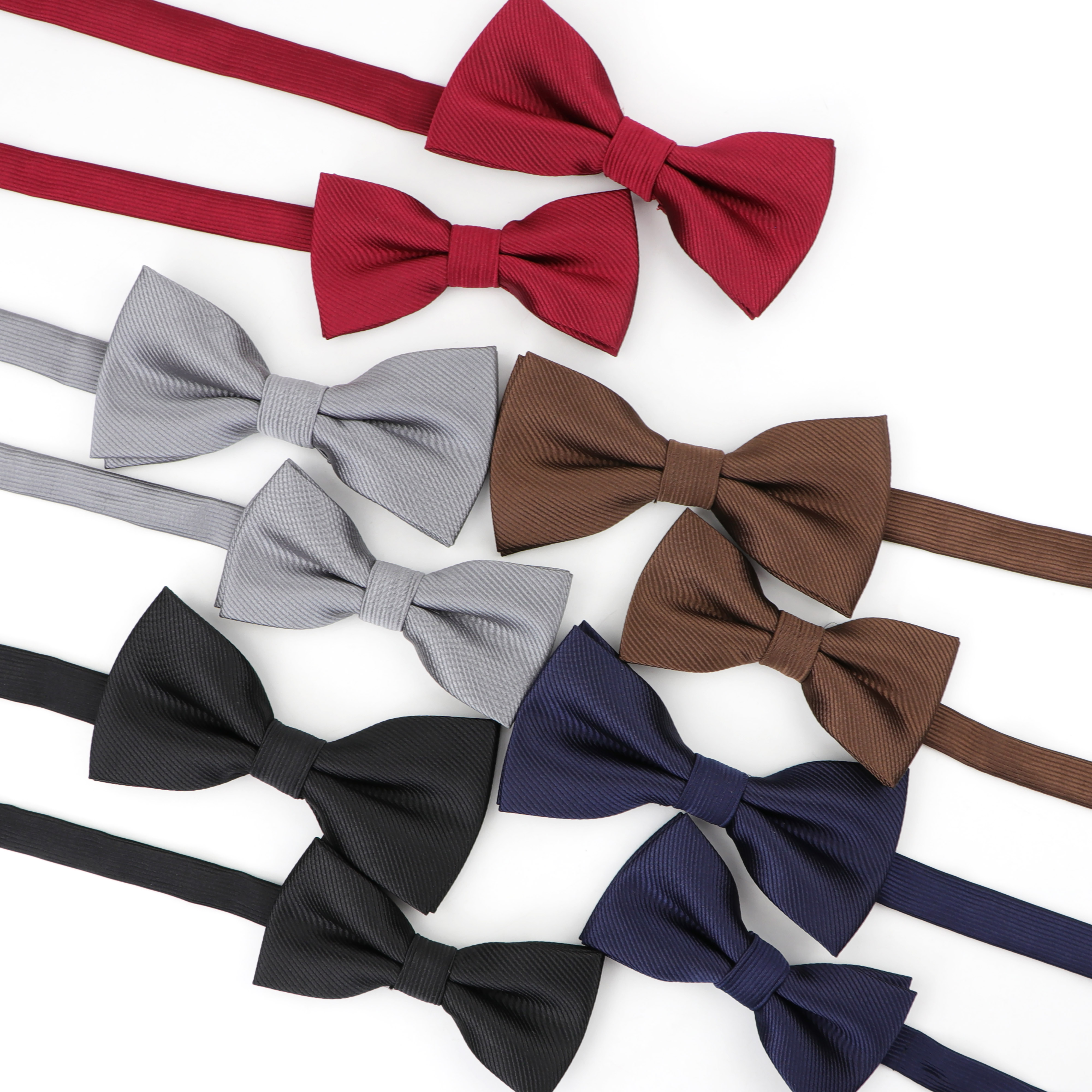 Solid Parent-Child Party Bowtie Set Design Cute Classic Baby Kid Butterfly Satin Men's Classical Fashion Bowties