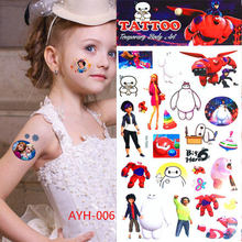 Children robot temporary body art flash tattoo stickers 10 * 21 cm Waterproof fake tattoo henna tattoo stickers car styling Wall(China)