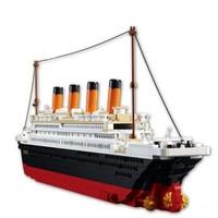 1012pcs Brand Compatible Plastic Titanic Ship Model Building Kit Educational 3D Boat Exhibit Bricks Blocks Toy
