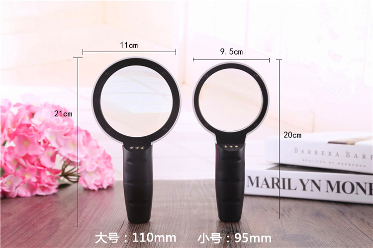 FGHGF DT7666 LED magnifier repair tool 30X times Reading magnifier Children 39 s gift Portable magnifier Watch repair Micro carving in Magnifiers from Tools