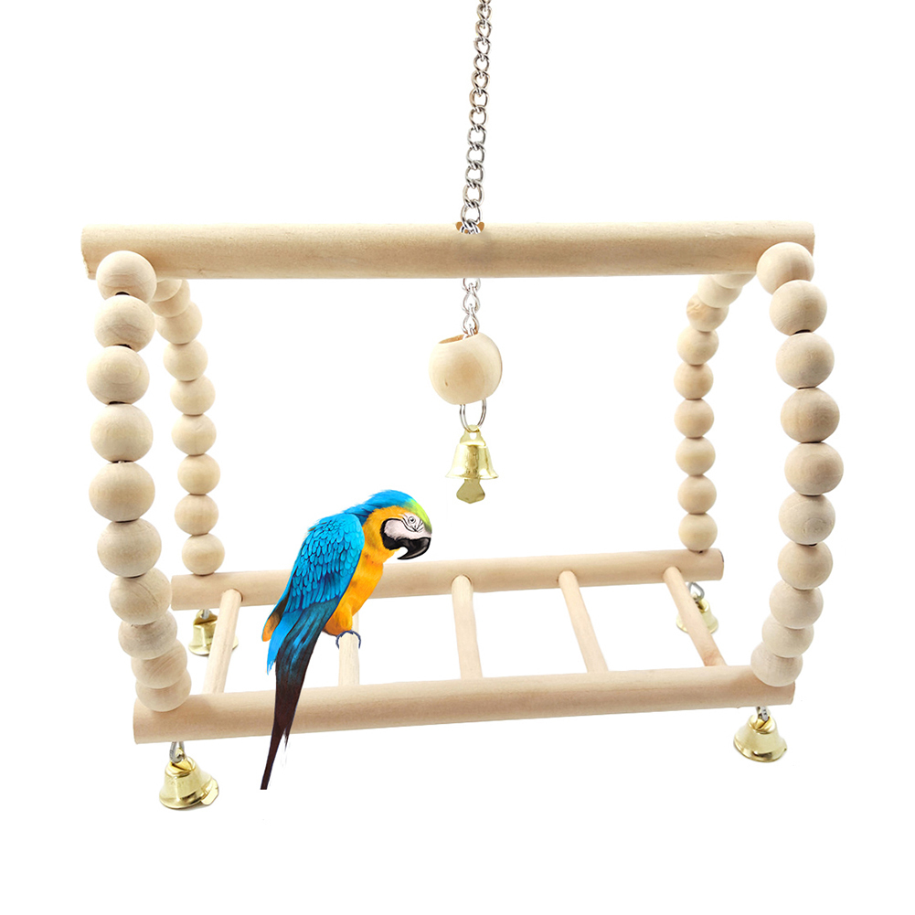 Bird Suspension Bridge Ladder Swing Hanging Climbing Frame Toy For Squirrel Parrot Hamsters Mice Pet Cage Accessory