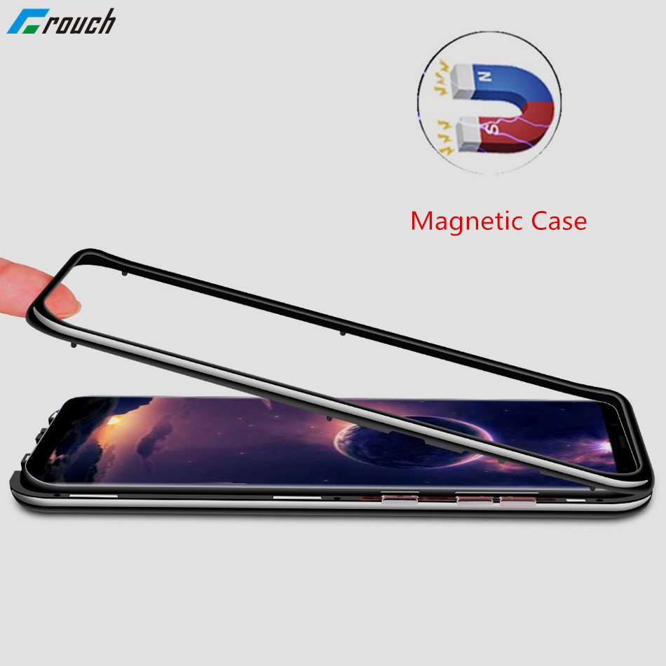 Magnetic Case For Samsung Galaxy S8 Plus Magnet Case Glass B