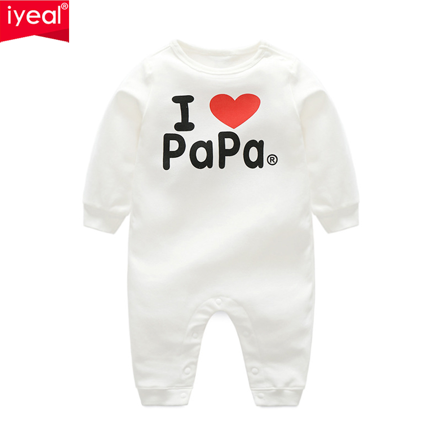 IYEAL Baby Rompers Spring Autumn Baby Clothes Soft Cotton Long Sleeve Kids Newborn Jumpsuits Boys Girls Pajamas Infant Clothing unisex baby boys girls clothes long sleeve polka dot print winter baby rompers newborn baby clothing jumpsuits rompers 0 24m