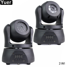 2 ชิ้น/ล็อต Pocket Double Sided Moving Head Light 15W 4IN1 CREE 36Pcs 5050 3IN1 SMD ไฟสำหรับ DJ DISCO PARTY KTV Bar LIGHT