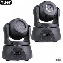 Luz con cabezal móvil de doble cara, lámpara CREE de 15W, 4 en 1, 36 uds, 5050, 3 en 1, SMD, para DJ, fiesta de discoteca, KTV, 2 uds. Por lote