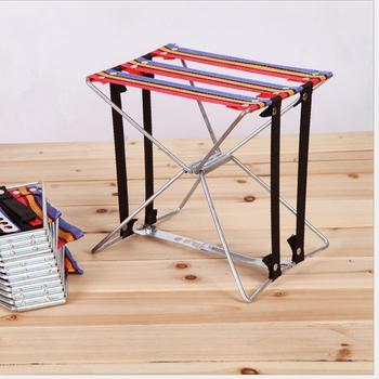Lekki połowów krzesło składane krzesło tkaniny Super wytrzymałość na zewnątrz stołek kempingowy sprzęt wędkarski składane drutu stołek tanie i dobre opinie Jeebel Camp