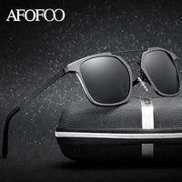 AFOFOO Aluminium Magnesium Polarized Sunglasses Brand Designer Men Driving Mirror Sun Glasses Male UV400 Shades Eyewear
