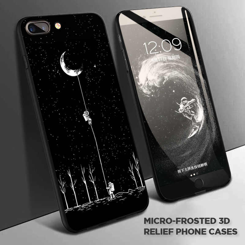 新宇宙飛行士電話ケース 4s iphone のため 7 6s 8 プラス XR ケース iphone 11 プロ Max X XS ケースプラネットスターつや消しソフトバック