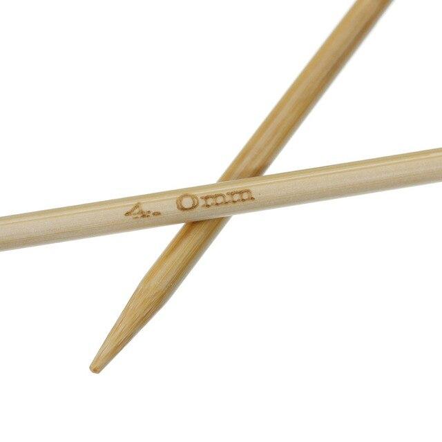 Doreenperles-aiguille à tricoter en bambou | Accessoire, sac écharpe, Crochet naturel, couture à la main, outil (US 6/ UK 8) 15 cm de long 2 pièces, nouvelle offre