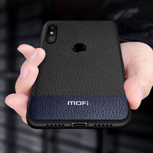Case Voor Xiao mi mi max 3 Case cover Voor Mi Max 3 back Cover mofi Originele Pu Leer Pc siliconen Shockproof Capas Folio Coque