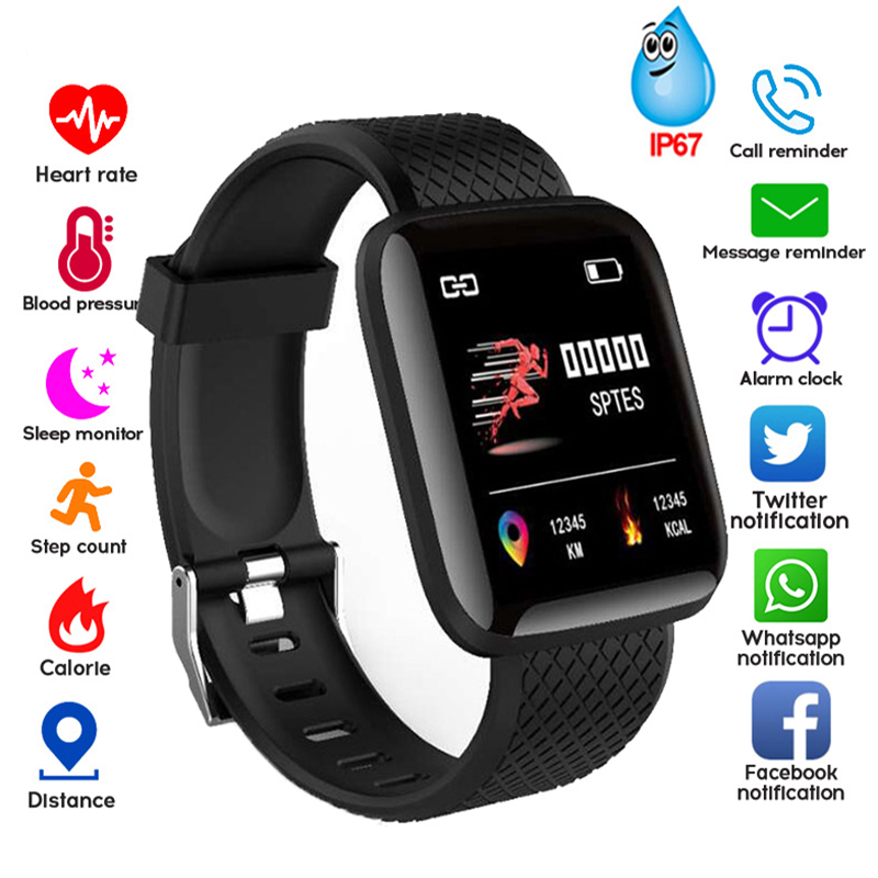 2019 Smart Watch Bracelet Color Screen Blood Pressure Fitness Tracker Heart Rate Monitor Smart Band Sport For Android IOS Iphone