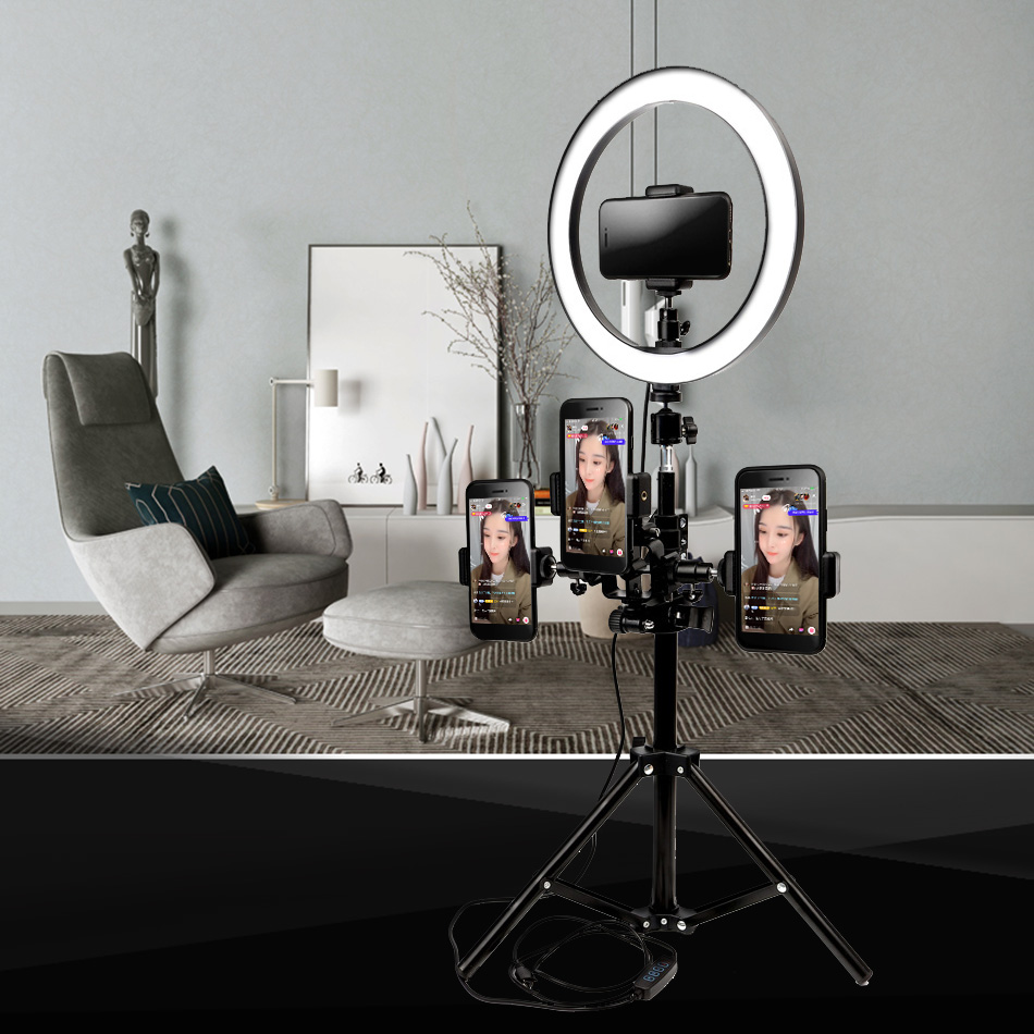 Photo Studio lighting Selfie LED Ring Light 5500K Camera Phone Video Makeup Photography Dimmable Ring Lamp With 110/160cm TripodPhoto Studio lighting Selfie LED Ring Light 5500K Camera Phone Video Makeup Photography Dimmable Ring Lamp With 110/160cm Tripod