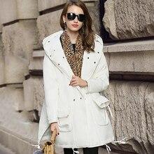 Winter jacket women coat white colour Casual loose big size mujer white duck down jacket warm manteau female parka down coat