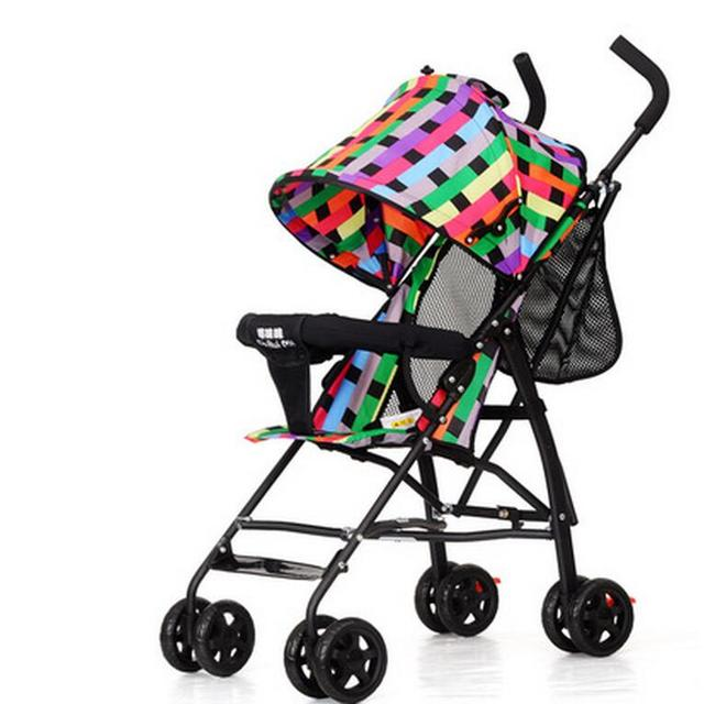 New Design Summer Baby Pram Portable Baby Carriage Folding Easy Baby Stroller High Landscape Super Light Weight Baby Car