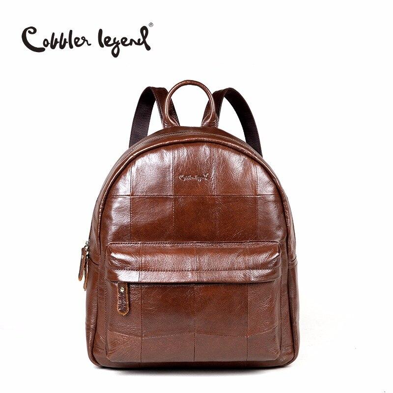 Cobbler Legend marque originale femmes sac à dos quotidien pour les filles en cuir véritable sac à dos 2019 nouvelle mode grande capacité sac de voyage
