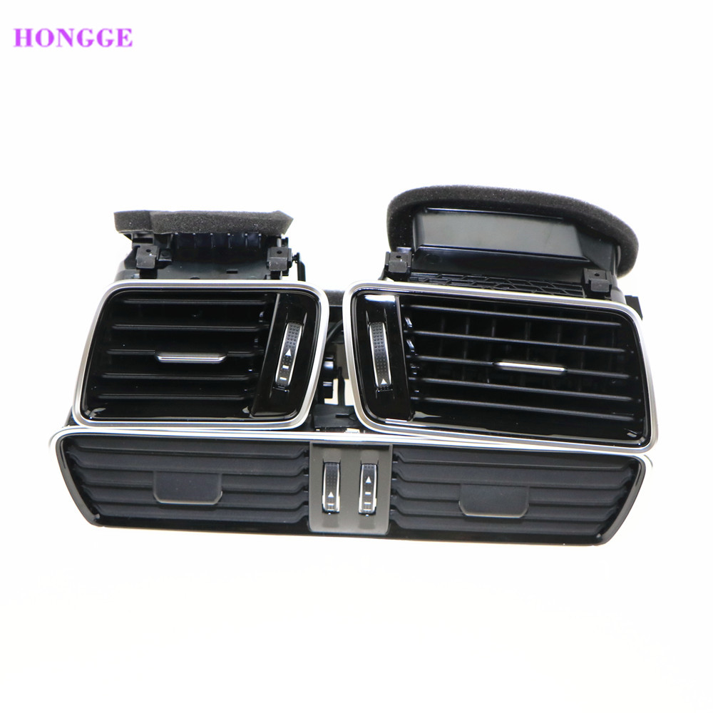 HONGGE 3 PCS Black Piano Paint Cold air Vent Nozzle Kit For VW CC Passat B6 B7 LHD 3AD819728A 3AD819701A 3AD819702A 3AD 819 728A 3pcs oem black piano paint chrome car center console air condition vents for passat b6 b7 cc r36 3ad 819 701 a 3ad 819 702 a