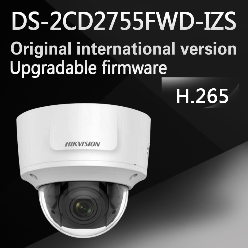 DHL free shipping English version DS-2CD2755FWD-IZS 5MP WDR dome Network ip cctv Camera POE Vari-focal motorized lens H.265+ free shipping english version ds 2cd4132fwd iz 3mp 120db wdr smart ip indoor dome camera support 128g poe