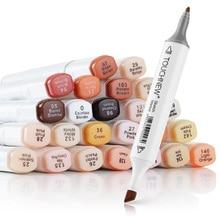 Artiste Touchnew marqueurs 24 couleurs marqueurs dalcool pliable ensemble de tons de peau pour Portrait Illustration dessin