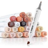 Artist Touchnew Marker Pens 24 Colours Blendable Alcohol Markers Skin Tone Set For Portrait Illustration