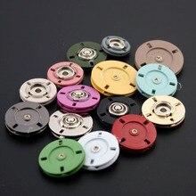 купить 30pcs Color mixing Metal Snap Fasteners Press Button DIY Sewing Clothing Handbag Purse Wallet Craft Bags Parts accessories дешево
