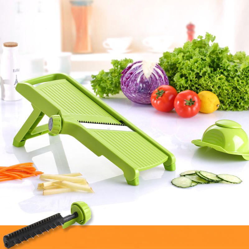 Fruit Vegetable Tools Kitchen Accessories-Adjustable Mandoline Slicer Vegetable Cutter Potato Cutter Carrot Grater Julienne