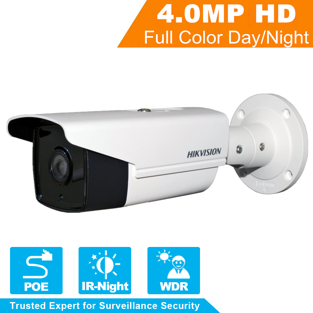 In stock Hikvision CCTV Camera DS-2CD2T42WD-I8 4MP EXIR Network Bullet IP security Camera POE IR 80m 120dB WDR, H.264+