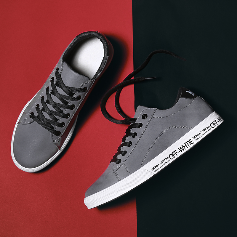 Hemmyi High Quality Men Shoes 2018 Flock Round Head Lac Up Mens Casual Shoes Black White Gray Male Sneakers Chaussure Homme
