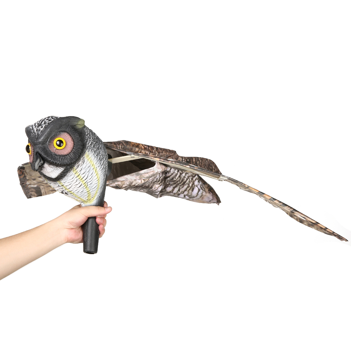 1pc Fake Prowler Owl with Moving Wing Bird Proof Repellent Garden Owl Decoy Pest Scarer Sparrow Bird Control Supplies