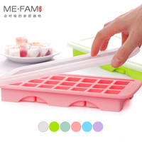 ME FAM New 21 Hole Eco Friendly Silicone Ice Cube Tray Square Food Mold Box With