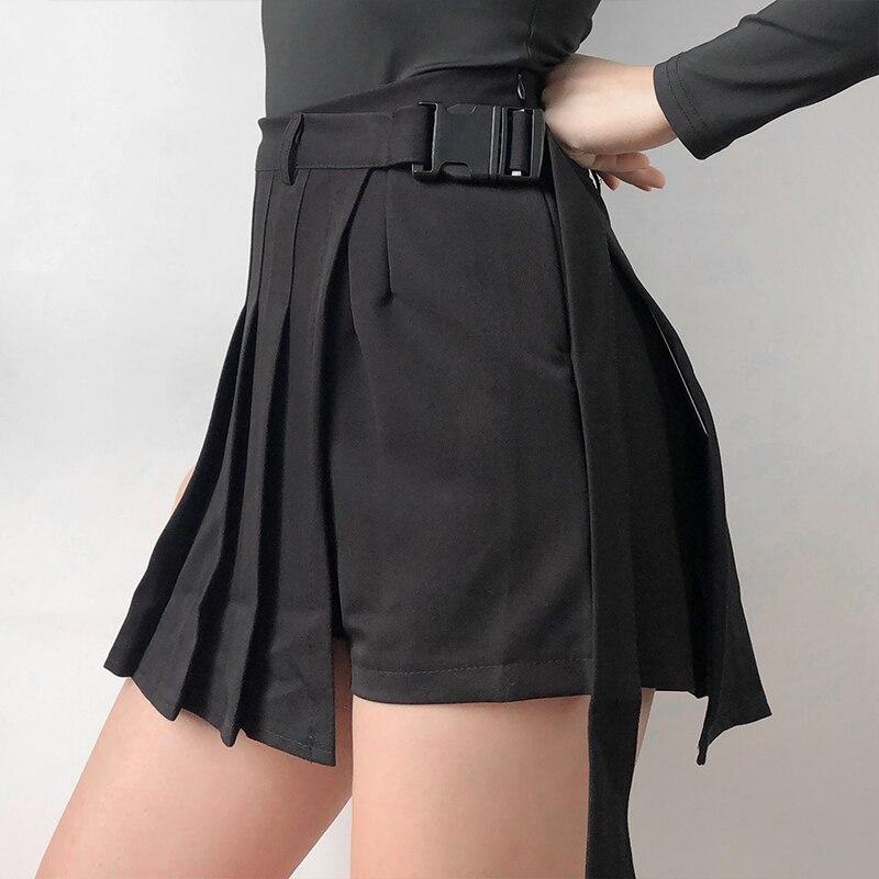 74fe5bb9e17 Для женщин Co-ord проверьте Обёрточная бумага мини-юбка с рогом ...