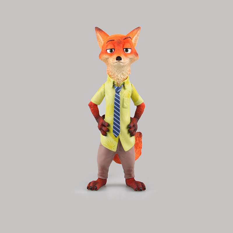 Kawaii Cartoon Movie Zootopia Animal Toys Nick Fox Resin Action Figures Collection Model Dolls Kids Toys Gifts 20cm ACAF006 new 8 styles russian cartoon pat canine patrol puppy dog toys car action figures model dolls kids gift pow pet patrulla canina