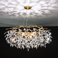 Kroonluchter lustre kristallen lamp gouden tak lamp lamparas modernas salones hotel grandes moderne led kroonluchter