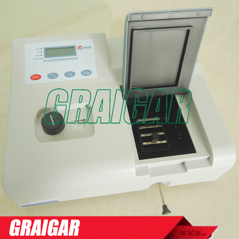 Visible Spectrophotometer 721 wavelength range 350 1020nm Spectral Bandwidth 6nm Genuine high precision