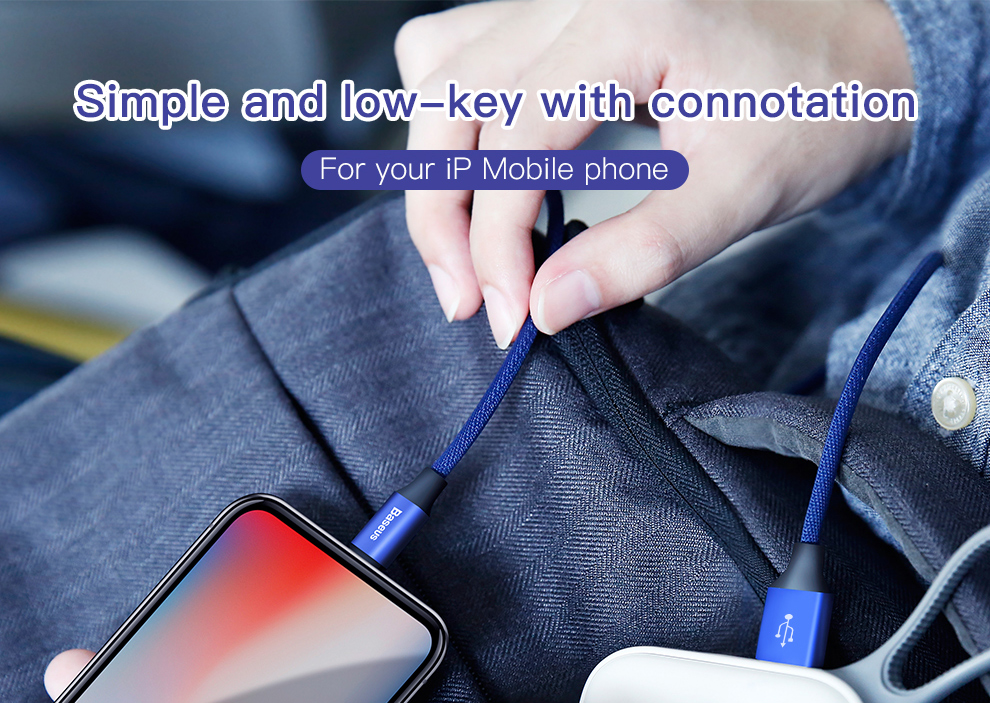 Baseus USB Cable For iPhone Xs Max Xr X 11 8 7 6 6s 5s iPad Fast Charging Charger Mobile Phone Cable For iPhone Wire Cord 3m 5m 2