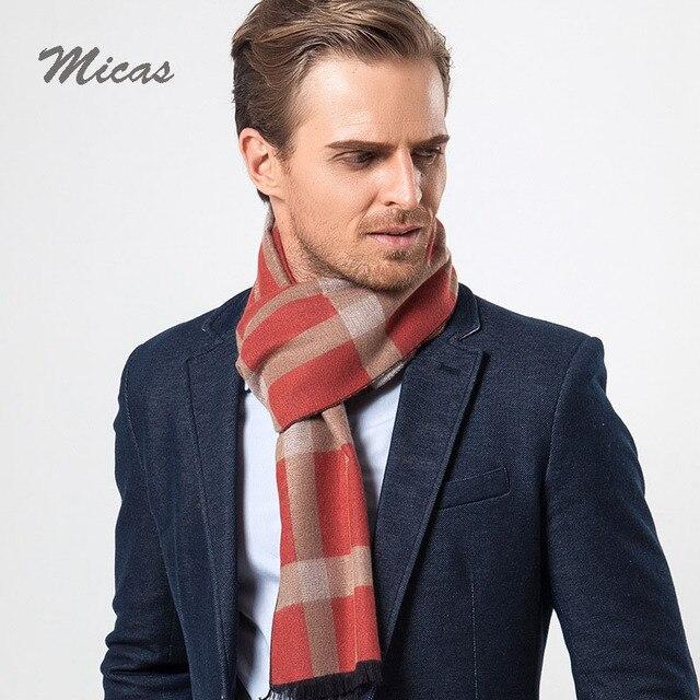 Подарок Топ мода Зима Шарф люксовый бренд мужчины Большой Размер плед кашемир шарф Мужская испания дизайнер Шарфы теплый воротник