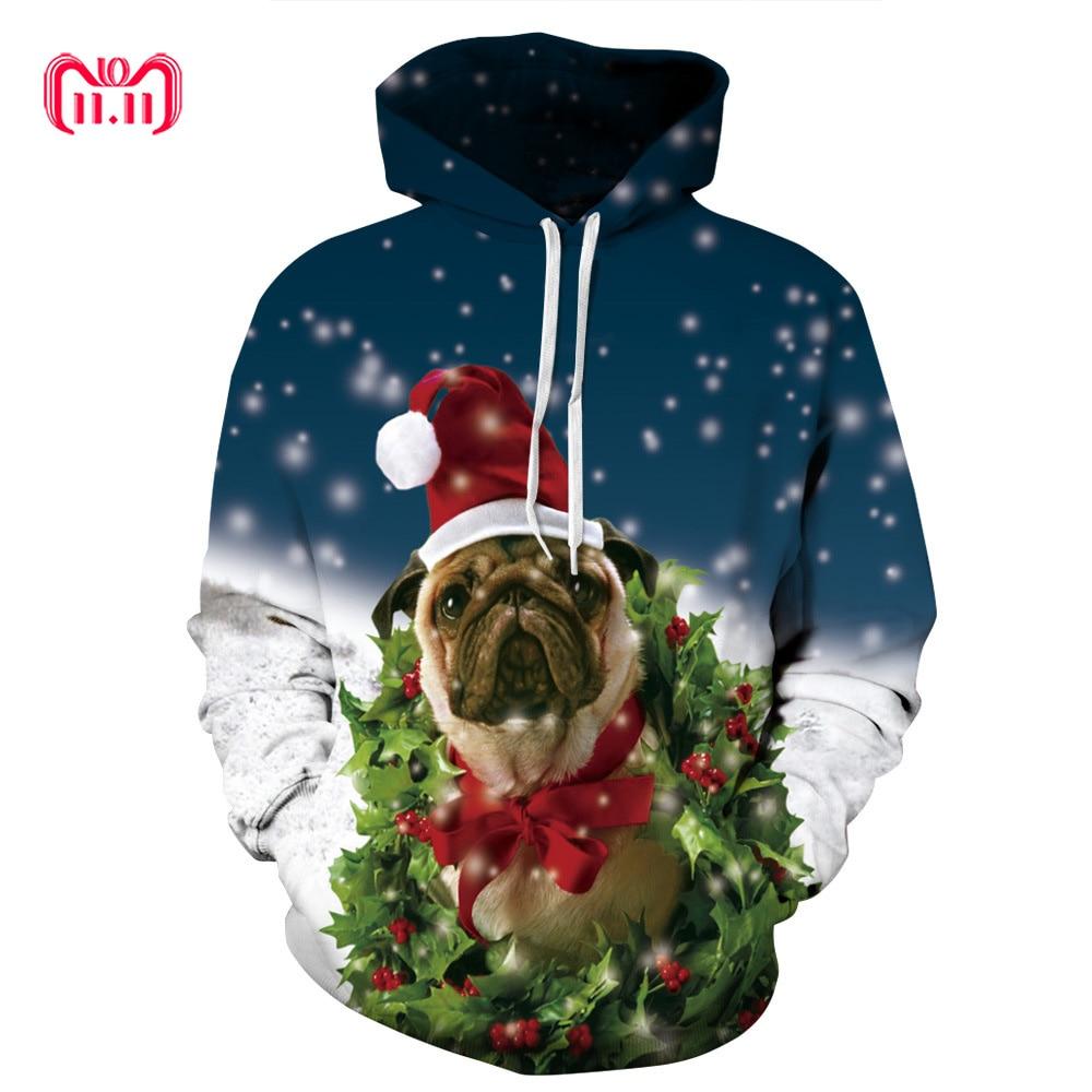Sparsam Streetwear Weihnachten Stil Hund Digitale Drucken Mit Kapuze Männer Kleidung 2018 Lose Paar Geladen Pullover Männer Plus Größe Pullover Pullover