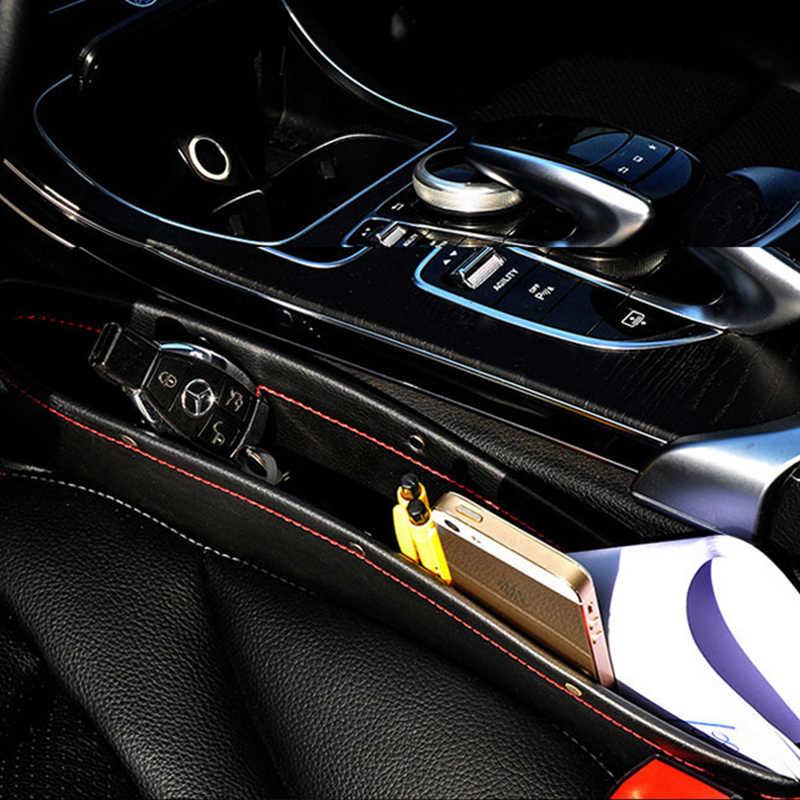 Автомобильный Органайзер PU Кожаный Автомобильный органайзер для сидений Caddy Slit Gap Карманный ящик для хранения перчаток коробка для книг/телефонов/карт