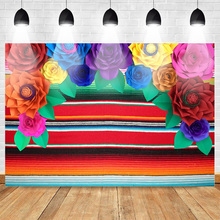 Mexico Fiesta Backdrop for Photography Flower Background Birthday Customized Photographic Backdrops for Photo Studio 10x10ft pro tye died muslin backdrop customized dyed muslin photographic background photography backdrops for photo studio