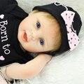 22 Polegada de Silicone Vinil Renascer Bebê Lifelike da Boneca Princesa Recém-nascidos Bebês Da Menina Real Olhar Vivo Boneca Crianças Presente de Natal Aniversário