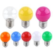 2W E27 Round LED Ball Light Bulb Globe Lamp Home Bar Shop Lighting Decor Blue light bulb Cheap Price Clearance Sale(China)