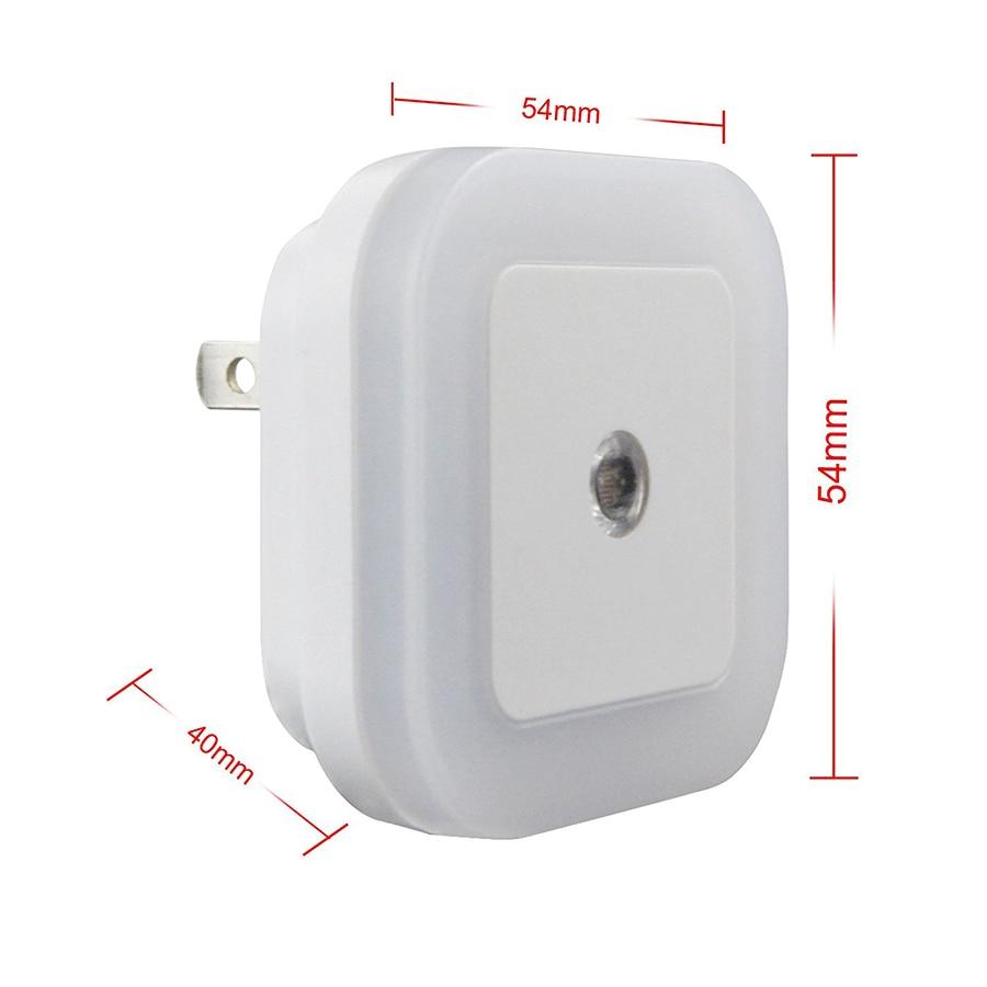 1Pcs Mini Auto Sensor Smart LED Luces nocturnas AC110V-240V Luz de - Luces nocturnas - foto 6