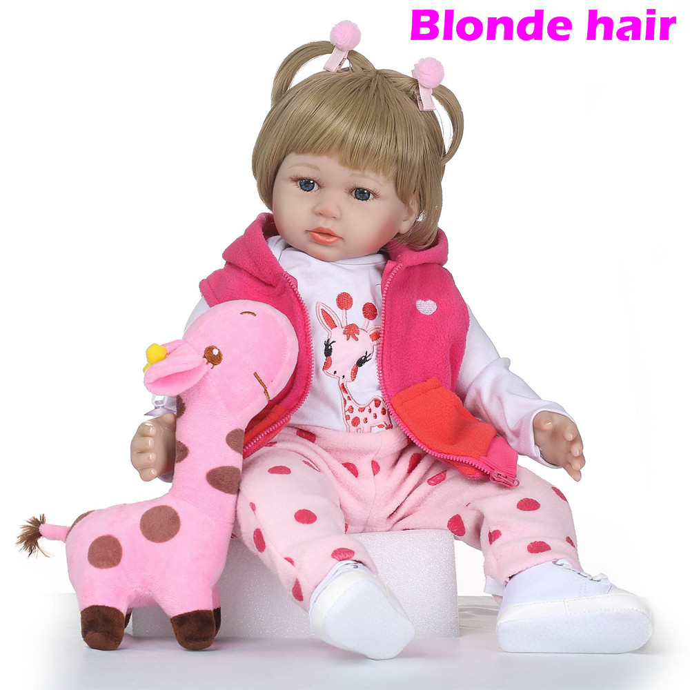 Latest new 58cm/23inch Silicone Reborn Boneca Realista Fashion Baby Dolls For Princess Children Birthday Gift Bebes Reborn DollsLatest new 58cm/23inch Silicone Reborn Boneca Realista Fashion Baby Dolls For Princess Children Birthday Gift Bebes Reborn Dolls