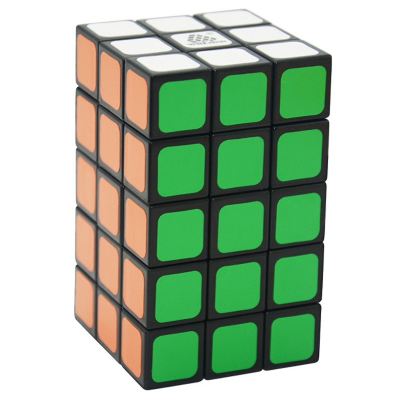 WitEden 3x3x5 Cuboid Cube Black Puzzle Cubo Magic Cube Child Grownups Brain Teaser Educational Toys Puzzle 335 Cube or 533 Cube diy 3x3x3 brain teaser magic iq cube complete kit black