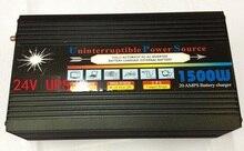 1500W UPS inverter Modified Sine Wave DC 12V/DC24V to AC 220V 50HZ Power Inverter With 20A fast battery charging function