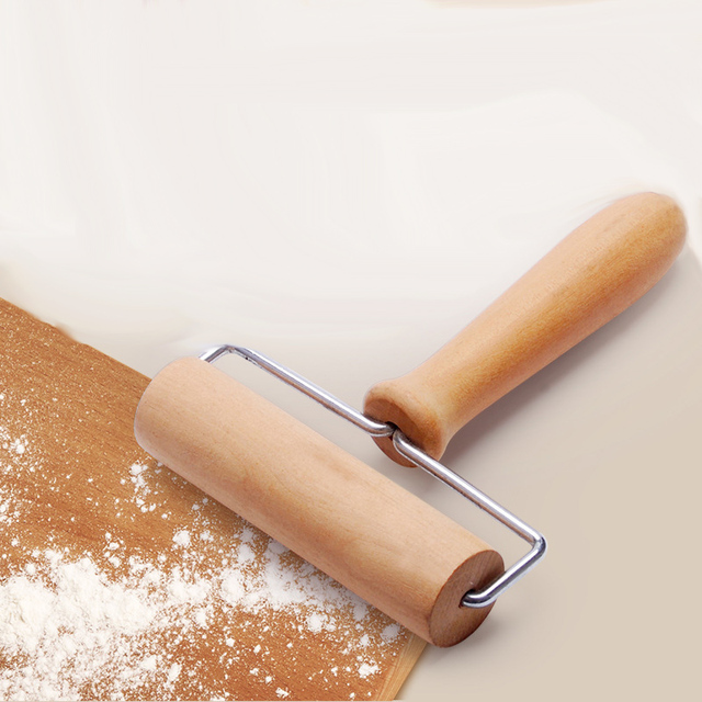 Wooden Rolling Pin Hand Dough Roller For Pastry Fondant Cookie Chapati