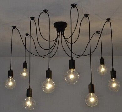 Free shipping to europe 8 arms black plastic socket lighting diy free shipping to europe 8 arms black plastic socket lighting diy industrial chandelier with edison bulb aloadofball Choice Image