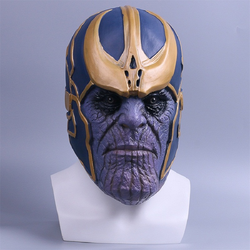 2018 Avengers Infinity War Mask Thanos Mask Cosplay Full Head Latex Super Hero Costume Halloween Party Prop (3)